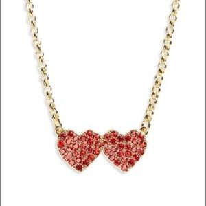 Kate Spade♠️NY yours truly pave ❤️pendant necklace